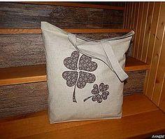Nákupné tašky - Nákupná taška - dva štvorlístky - 4975491_