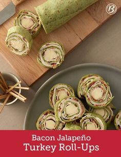 Bacon Jalapeño Turkey Roll-Ups Appetizers For A Crowd, Holiday Appetizers, Appetizer Recipes, Snack Recipes, Cooking Recipes, Dinner Recipes, Clean Eating Snacks, Healthy Snacks, Turkey Roll Ups