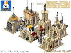 Shopping page for Lego Tatooine Mos Eisley Building Instructions custom moc model Star Wars BaronSat - Genevieve Terry Star Wars Sith, Lego Star Wars, Star Wars Boba Fett, Star Trek, Lego Stormtrooper, Bloc Lego, Lego Mosaic, Star Wars Girls, Lego War
