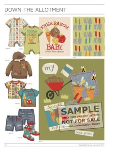 Style Right Babywear Trendbook - Childrenswear S/S 20016 covers everything necessary for successful, market-driven and fashionable collections Baby Kids Wear, T Baby, Kids Clothes Storage, Clothing Storage, Clothing Themes, Kids Clothing, Baby Posters, Baby Illustration, Fashion Forecasting
