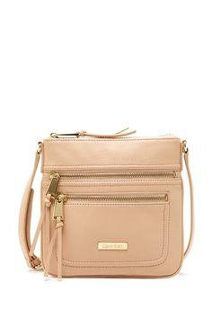 Calvin Klein Print Double Zip Crossbody Bag by Arm Candy on @HauteLook