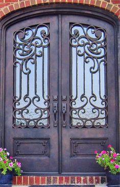 Mano Forjado De Hierro Forjado Puertas Dobles Para De Entrada Puertas D