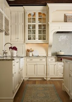House on Holdridge, MN. Murphy & Co. Design.  White kitchen design.