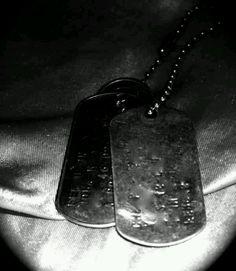 Black dog tags <3