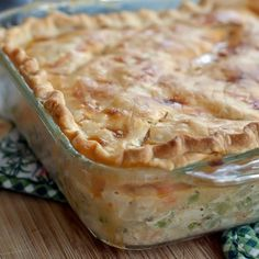 Chicken pot pie casserole (funeral or pot luck idea?)
