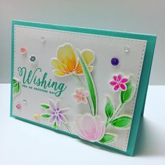 Beautiful card with Zig Markers