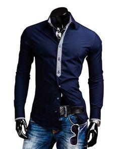 E VOCÊ, JÁ ESCOLHEU A SUA? -CAMISA ELEGANTE CASUAL SÓLIDA - DETALHE XADREZ - EM AZUL ESCURO, BRANCO E PRETO-  www.CamisetasImportadas.com👔  #Camisa #Camisas #CamisasImportadas #CamisetasImportadas #ModaMasculina #ModaHomens #Moda2016 #Fashion #FashionMen #MenFashion #Fashion2016 #LookDoDia #OOTD #OOTN