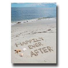 Happily Ever After Beach Writing 8x10 Print by malibelle on Etsy, $15.00