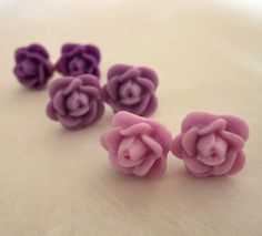 Bridesmaids Earrings Flower Earring Studs 3 by PaganucciDesigns, $15.00