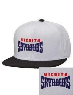 Wichita Skyhawks Hockey Embroidered Wool Blend Flat Bill Pro-Style Snapback  Cap. Sports TeamsHockeyVintagePrimitiveField ... c2e4e5d58295