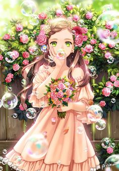 Super Ideas For Anime Fantasy Art Girls Hair Kawaii Anime Girl, Pretty Anime Girl, Beautiful Anime Girl, Anime Art Girl, Manga Girl, Anime Girls, Kawaii Pig, Anime Girl Dress, Anime Fantasy