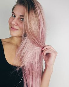 PINK OMBRE HAIR  played with some @lorealhair #Colorista washout colours again last night and this is what the result  Absolutely love it!  #pinkhair #dirtypinkhair #balayage #blonde #hair #hairstyle #blushedhair #pinkbalayage #ombrehair #ombre #beautyblogger #beautyvlogger  #nellatornroos