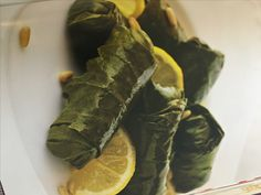 Moroccan-Style Stuffed Grape Leaves with Lamb