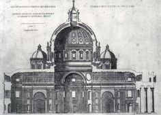 Etienne Duperac  section of the project  by Michelangelo for St Peter's