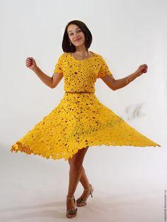 eed2fb8e71cb926 Купить Лючия - желтый, платье, Платье нарядное, платье летнее, платье  вязаное, платье коктейльное