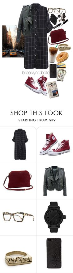 """""""Untitled #979"""" by brooklynrebelle ❤ liked on Polyvore featuring Converse, The Row, Proenza Schouler, Prism, Tsovet, Snash Jewelry, DKNY and Louis Vuitton"""