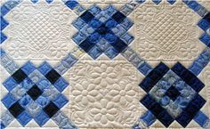 Like the different quilting in each block