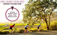October 5, 2013 - Dry Creek Vineyard Harvest Cycling Tour. #sonomaevent #drycreekvineyard #cycling #sonomawinecountry
