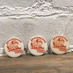 Vintage Santa's Village - Muskoka, Canada Souvenir Buttons, S/3