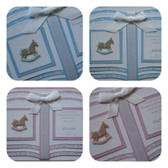 Handmade personalised baby Bookatrix cards.......lovely keepsake item!