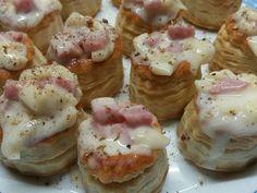 Fabulosa receta para Volovanes de jamón y queso.