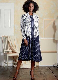 V9358 | Misses' Shrug and Dress | Vogue Patterns