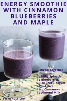 Energy Smoothies, Healthy Smoothies, Energy Drinks, Nutribullet Recipes, Thirsty Thursday, Baby Spinach, Fruits And Vegetables, Greek Yogurt, Juices