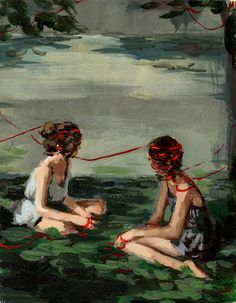Red Ribbon . 8 x 10 giclee print by ClareElsaesser on Etsy, $25.00