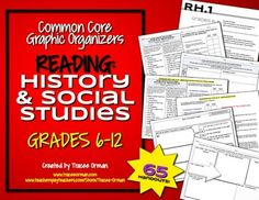 Common Core Reading: History and Social Studies Graphic Organizers for Grades 6-12 - 65 organizers to practice every skill; many for evaluating sources (great for any non-fiction reading/writing/research) $