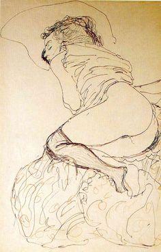 a drawing by Gustav Klimt