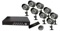 """Vonnic DK3258B 8-Channel + 8 CMOS Camera H.264 500 GB Remote View DVR with All-In-One CCTV Surveillance Camera Kit - Retail (Black) by Vonnic. $399.00. 8 Channel All In One Kit, H.264 Format. Real Time Display and Recording. Network/iPhone remote viewing. 1/4"""" Sony CMOS, 420 TV Line, IP 66 Weatherproof. Pre-installed 500GB Hard Drive. Model DK3258B Video Input Channel 8 BNC Video Output Channel 1 BNC ,1 VGA output Video Display Single, Split(1/4) Search Mode Time Audio In / Out 8..."""