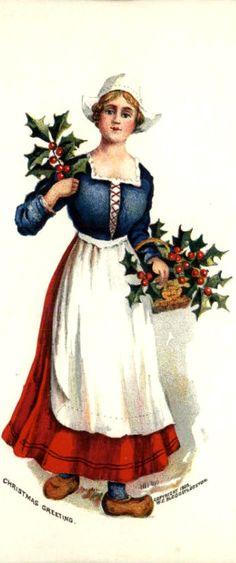 Dutch girl Christmas greeting