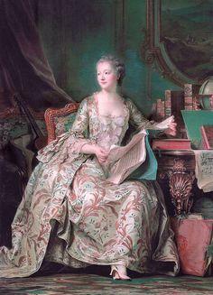 Maurice Quentin de La Tour ( 1704 - 1788) was een Frans portrettist. Madame de Pompadour (ca. 1750)