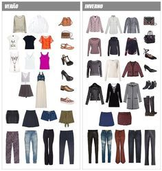 7eee753f90d armário cápsula verão e inverno ideias de looks Roupas Essenciais