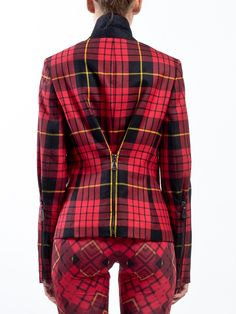McQ - ALEXANDER McQUEEN - Tartan jacket with asymmetrical zip fastening, zip pockets and zip detail on the arms - LIDIASHOPPING.IT - SHOP ONLINE - WORLDWIDE SHIPPING