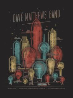Dave Matthews Band // Scranton, PA Poster by DKNG Studios at http://www.dkngstudios.com/2013/05/31/dave-matthews-band-scranton-pa-poster