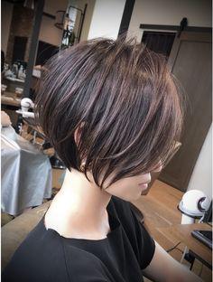 Pixie Haircut For Thick Hair, Short Hair Cuts, Shot Hair Styles, Long Hair Styles, Short Bob Hairstyles, Cool Hairstyles, Androgynous Hair, Asian Short Hair, Langer Bob