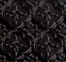 "Black highgloss, kitchen backsplash idea?WC 20 Faux Tin - Backsplash Roll - (PVC) - 1 1/4 "" Pattern - Black."