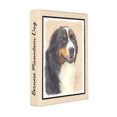 #Bernese Mountain Dog 2 Mini Binder - #bernese #mountain #dog #puppy #dog #dogs #pet #pets #cute #bernesemountaindog