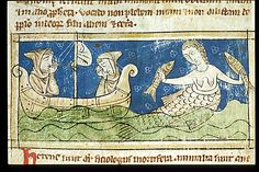 Mermaid. F.28v. Sloane 3544 Bestiary. England; 2nd or 3rd quarter of the 13th century
