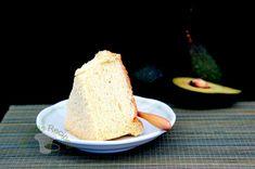 Avocado Chiffon Cake, a light but slightly creamy soft chiffon cake