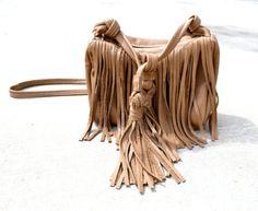 SPRING SALE 30 Fringe Leather Bag/Purse by Mykano on Etsy, $87.50