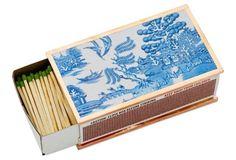 Blue Willow Matchbox