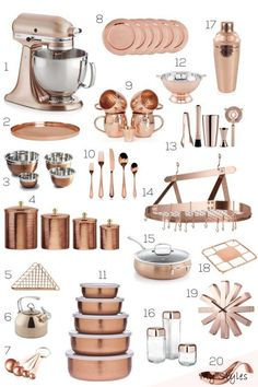 Rose Gold Kitchen Accessories, Home Decor Accessories, Kitchen Gadgets, Kitchen Appliances, Kitchen Tools, Kitchen Cabinets, Rustic Kitchen Decor, Rustic Decor, Kitchen Essentials