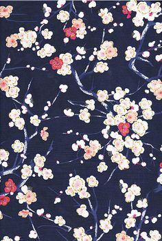 Cherry Blossoms: Asian Japanese Fabric Quilt Gate by AsianFabrics