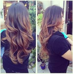 Backcombing Ombre Technique on Dark Hair #beauty #ombre
