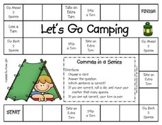 A great way to practice commas in a series. This game can be used for literacy centers or stations, partner games, or small group practice. This g...