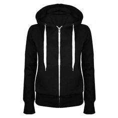 Plain Hoody Zip Top ($12) ❤ liked on Polyvore featuring tops, hoodies, long sleeve hoodie, long sleeve stretch top, stretchy tops, stretch top and hooded pullover