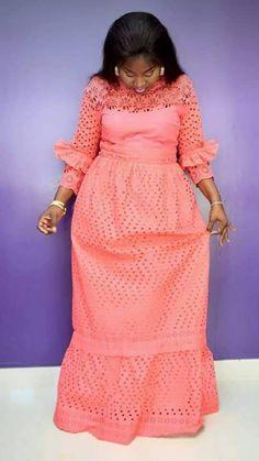 I'd love this in grayish blue Short African Dresses, Latest African Fashion Dresses, African Lace, Nigerian Dress, Lace Dress Styles, African Attire, Modern Ghana, Nigerian Weddings, Ankara Styles