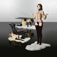 Tavolo, seduta, appendiabiti / table, chair, coathanger, Allen Jones